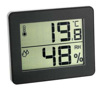 Termohigrómetro digital TFA 30.5027 Negro