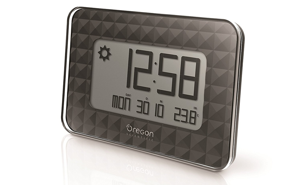 Reloj termómetro mural Oregon Scientific JW208 negro