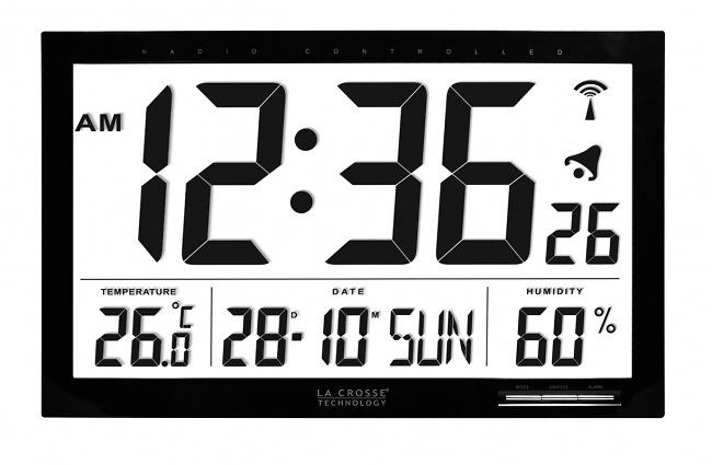 Reloj termohigrómetro gran formato La Crosse WS8007