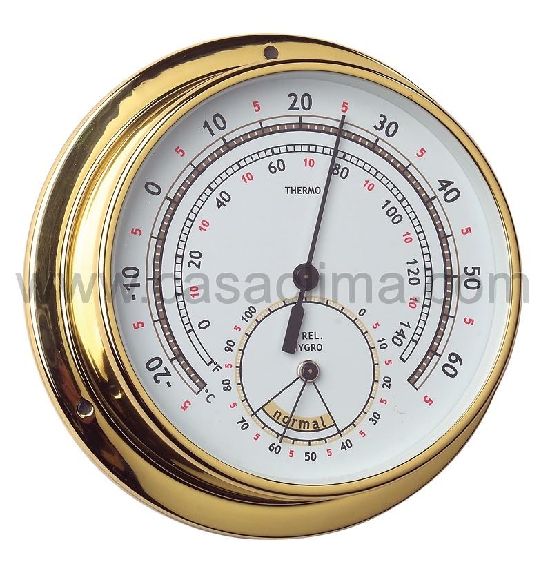 Termohigrómetro dorado 120/95