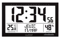 Reloj termohigrómetro gran formato La Crosse WS8013 negro